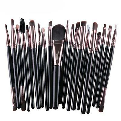 Pro 20 Pcs Makeup Set Powder Foundation Eyeshadow Eyeliner Lip Cosmetic Brushes