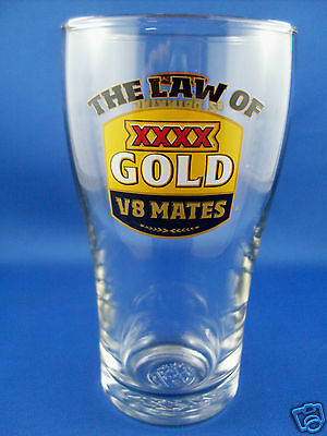 XXXX GOLD Beer THE LAW OF V8 MATES #2 DRINKING Crown Glass MAN CAVE BREWERIANA