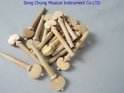 PRETTY 4/4 Violin Fittings, 48pcs (12 Sets) boxwood pegs ,fine workmanship