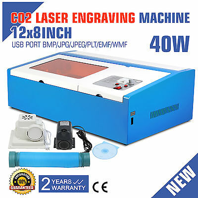 Co2 Laser Engraver Engraving Machine 40W High Precise 300X200Mm Cutter Metal