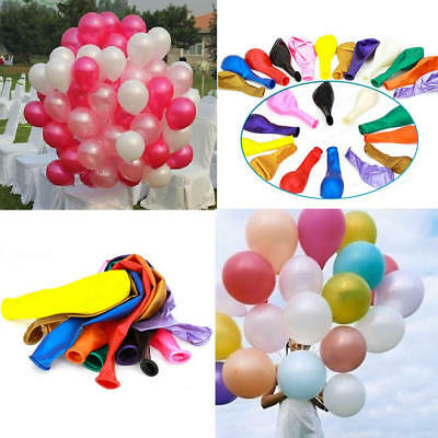 "100X 10"" Inch Latex Helium Or Air Quality Balloons For Party Wedding Birthday"