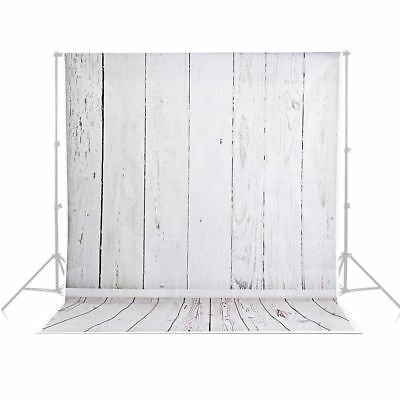 Photography Studio vinyl Backdrop Background Stand Kit Set  wood wooden