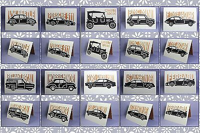 Brother ScanNCut Classic Car Silhouette card templates CD1032