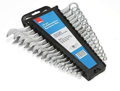 Hilka 16Pc Metric Drop Forged Combination Open Ring Spanner Wrench Set 6-22Mm