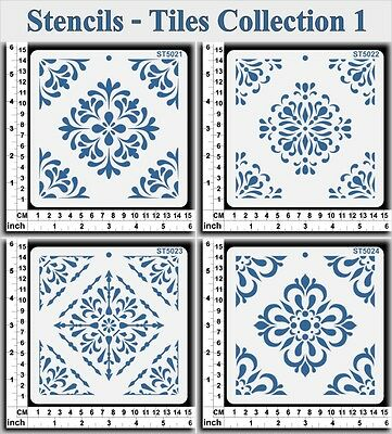 Stencils Templates Masks for Scrapooking, Cardmaking - Tiles Collection 1