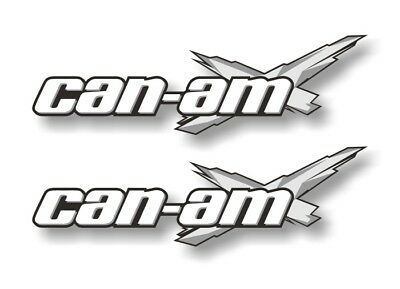 "2 Can-Am 9"" Racing Decals GREY Graphics Outlander DPS Spyder Maverick Stickers"