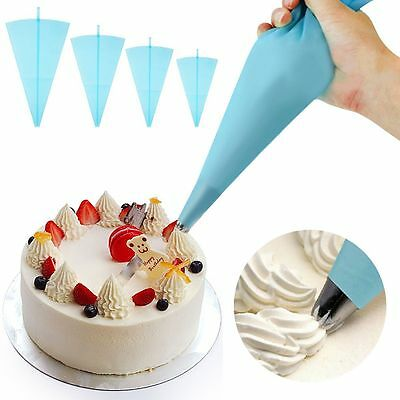 Silicone Reusable Icing Piping Cream Pastry Bag Cake Decorating Tool S/M/L/XL