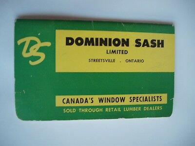 Dominion Sash Streetsville Canada Window Building Construction Pocket Catalogue