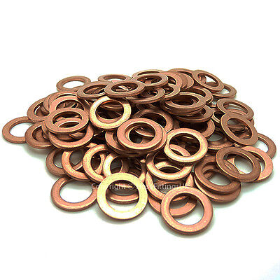METRIC COPPER WASHER Banjo Bolt Turbo Oil Feed Fuel Pump Rail Brake Clutch Sump