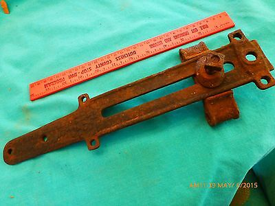 Antique Adj. Hinge Gate Fence cast iron 1880 WA Galbraith Flint Mich. Steampunk