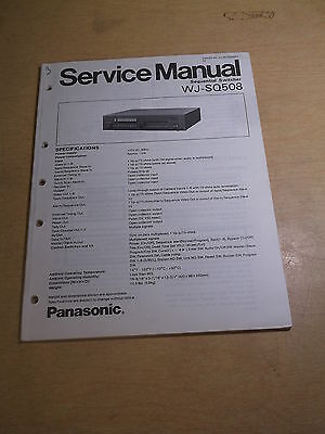 Panasonic Sequential Switcher WJ-SQ508 Service Manual *FREE SHIPPING*