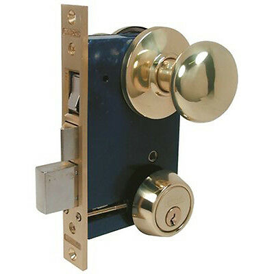 Marks USA 22AC/26D-W-LHR S. Chrome Mortise Lock For Storm Door & Security Door