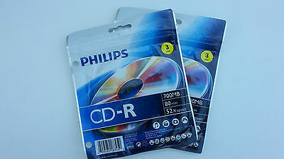 2~ 3 Pack of Philips CD-R 700MB / 80 minutes / 52X speed