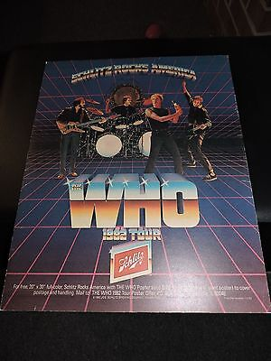 The Who  Original Rollingstone 1982 Tour Concert Advertisment Rare