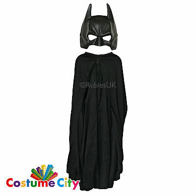 Childs Batman Dark Knight Fancy Dress Cape & Mask Fancy Dress Accessory Set