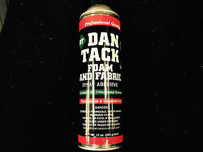 Dan Tack Professional Quality Foam & Fabric Spray Glue / Adhesive Big Can 12 oz