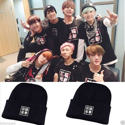 K-pop BTS Cap Bangtan Boys In Bloom Hat Cartoon Cute pt.2 Caps Knit Beanie Hat
