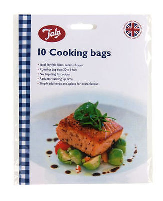 Tala Oven Cooking Roasting 10 Bags Ideal for Roasting Fish and Chicken 30 x 14cm