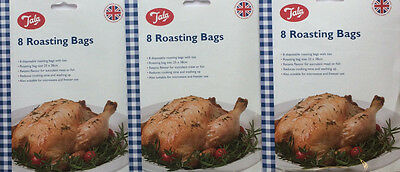 24 x Tala Oven Roasting Bags Ideal for Chicken Fish Meat Cooking Food 25 x 38cm