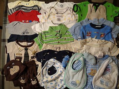 Lot of 28 pieces boys, various 3-6 months summer-spring clothing outfits