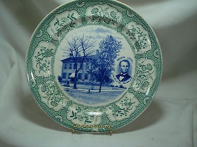 Vintage Petrus Regout Plate Of Lincolns House Springfield, Il Made In Holland