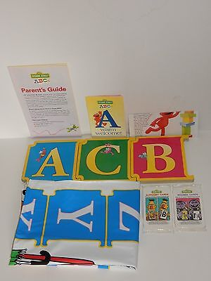 Sesame Street Readers Digest Books: A-C, Play Mat w/Number & Alphabet Cards  NEW