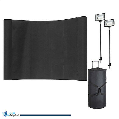 10' Portable Trade Show Display Booth Pop Up  Exhibit Stand with Spotlights