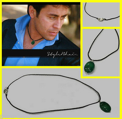 "Handmade 100% Natural Emerald Fashion Necklace For Decent Look 17"" Long"