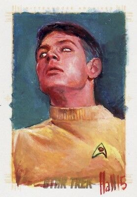 Star Trek ToS 50th Anniversary Rare Charles Hall / Gary Mitchell Sketch Card