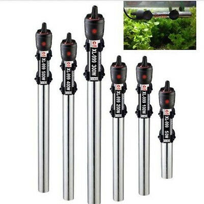 220V Submersible Stainless Steel Water Heater Rod Aquarium Fish Tank 50W-500W