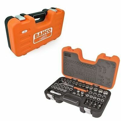 """Bahco S530T 53pc Pass Through Socket Set 1/2"""" 1/4"""" 3/8 inch Ratchet Drive NEW"""