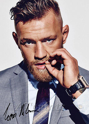 Conor Mcgregor Signed Print Poster Photo Ufc Mendes 197 197 189