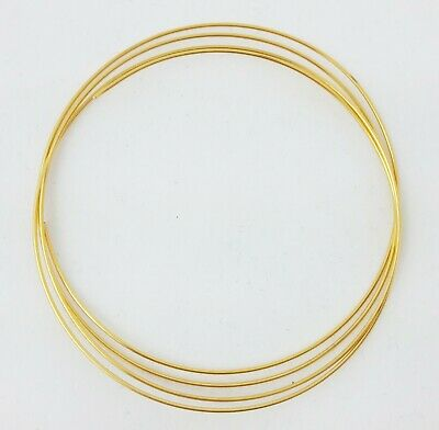 24K Solid Yellow Gold Round Wire, 1/4-Hard, 20 22 24 26 28 Gauge, 100% Pure Gold