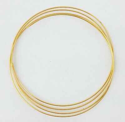 24K Solid Yellow Gold Round Wire, 1/4-Hard, 22 24 26 28 Gauge, 100% Pure Gold