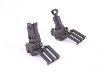 Metal KAC Style 45 Degree Offset Front and Rear Fold Sight Set for Airsoft TOYS