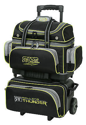 Storm Rolling Thunder 4 Ball Roller Bowling Bag Black Grey Lime