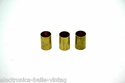 3X Pack Brass Adapter Bushings Potentiometer Coverts Split Shaft To Solid Shaft