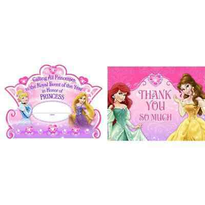 Disney Very Important Princess Birthday Party Invitations & Thank You Notes