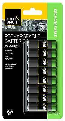Gardman AA Ni-MHz Rechargeable Batteries -Pack of 8 Replacement for Solar Lights