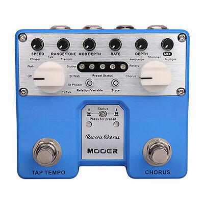 Mooer Reverie Chorus Twin Series Digital Chorus Guitar Effects Stompbox Pedal