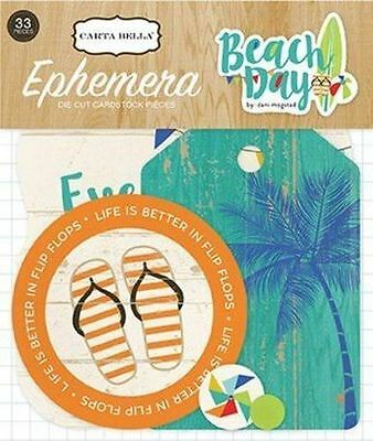 "Carta Bella ""beach Day""  Ephemera  Die Cuts Swimming Ocean Scrapjack's Place"