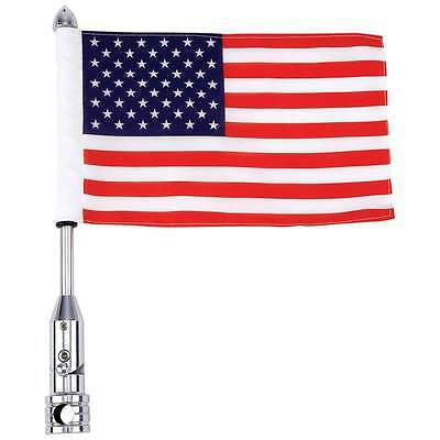 "Motorcycle Flagpole Mount and USA Flag 6"" x 9""  With 13"" Flag Pole Mount"