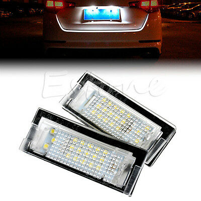 2x LED ERROR FREE License Number Plate light For BMW E39 5D 5 Door Wagon Touring