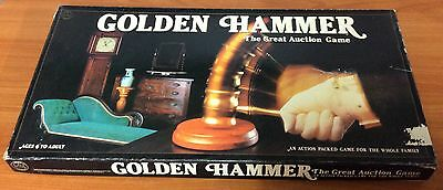 Vintage 1983 Board Game - Golden Hammer -The Great Auction Game - 100% Complete
