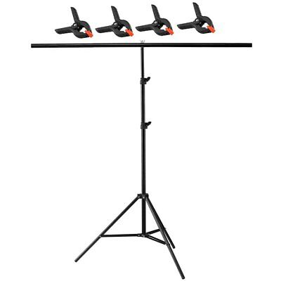 200x200cm Backdrop Stand Metal T Bar Support PVC Background Photography System