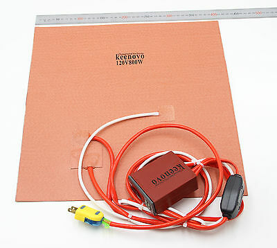 """Keenovo Silicone Heater 3D Printer Heatbed Build Plate Heating Element 16"""" 120V"""