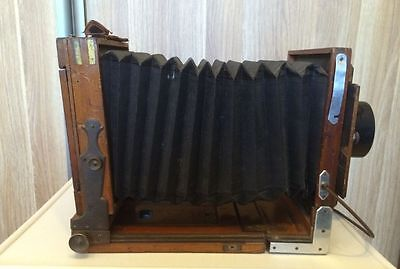 Very Rare  Antique Wooden Plate Camera