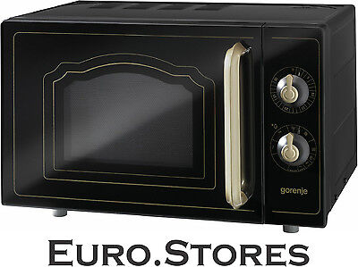 Gorenje MO4250CLB Microwave Oven Retro Design Black 800W 20L Volume Genuine NEW