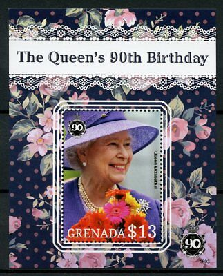 Grenada 2016 MNH Queen Elizabeth II 90th Birthday Anniv 1v S/S Royalty Stamps