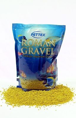 Pettex Roman Fish Tank Aquarium Gravel Lemon Zest 2kg